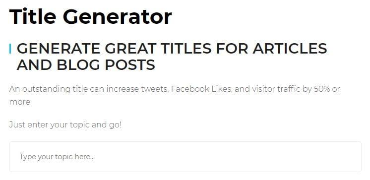 Headline Generators