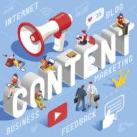 Content marketing concept vector illustration.